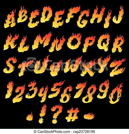 Fire font - csp23728199