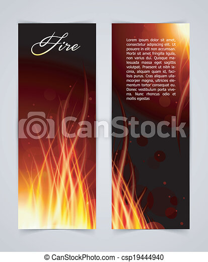 Fire glow background - csp19444940