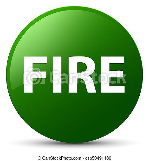 Fire green round button - csp50491180