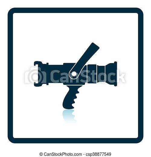 fire hose icon shadow reflection design vector eps vector rh canstockphoto com fire hose clipart black and white fire hose clipart