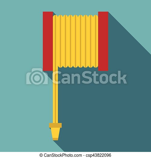 Fire hose icon, flat style - csp43822096