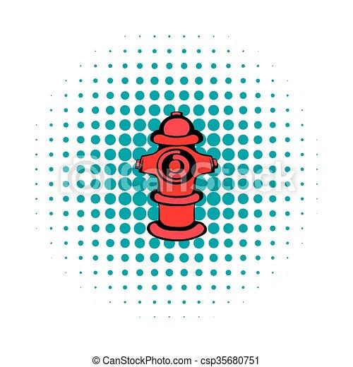 Fire hydrant icon, comics style - csp35680751