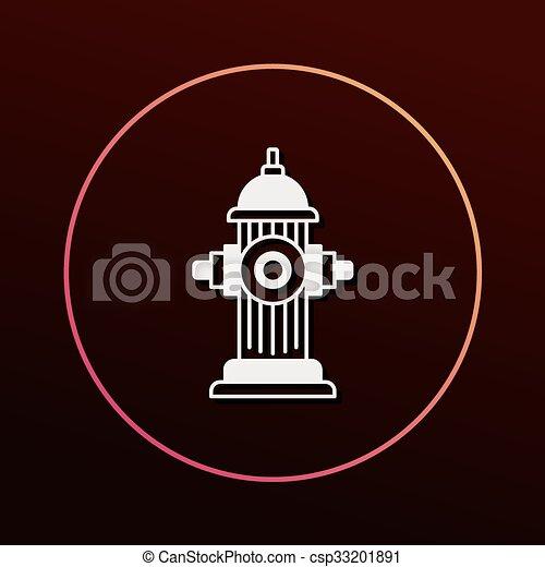 Fire hydrant icon - csp33201891