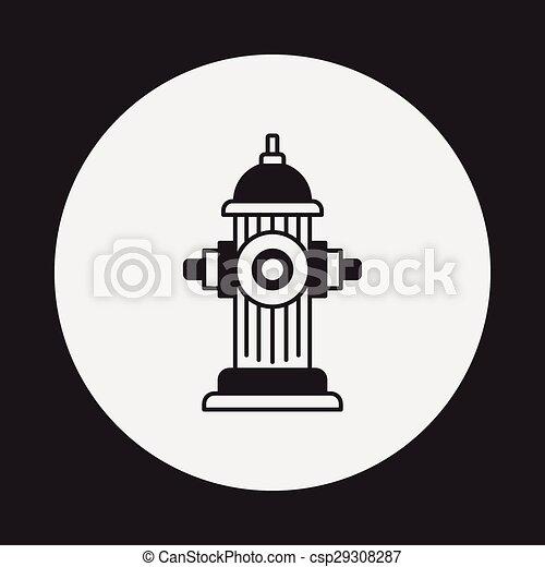 Fire hydrant icon - csp29308287