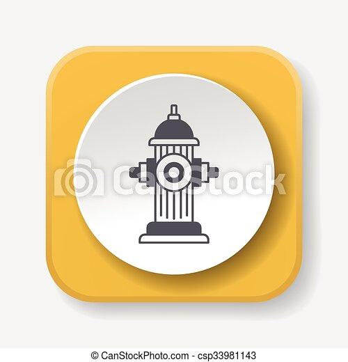 Fire hydrant icon - csp33981143