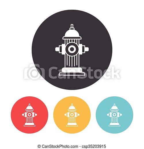 Fire hydrant icon - csp35203915
