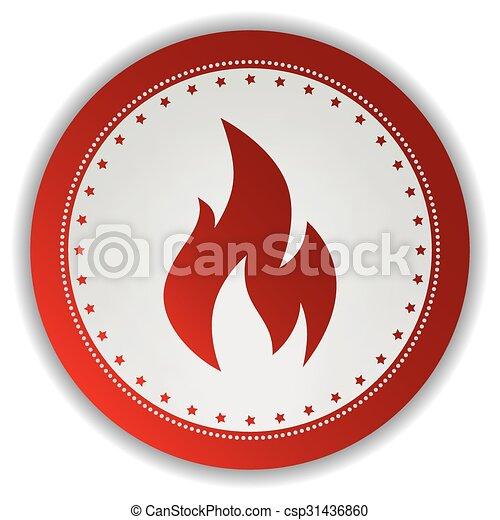 fire icon button - csp31436860