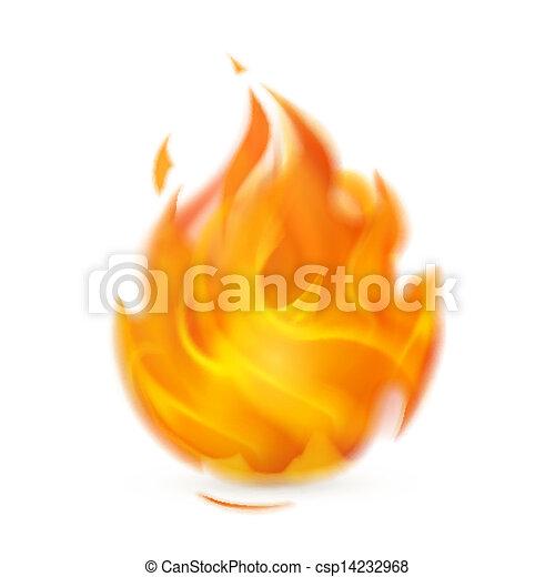 Fire, icon - csp14232968