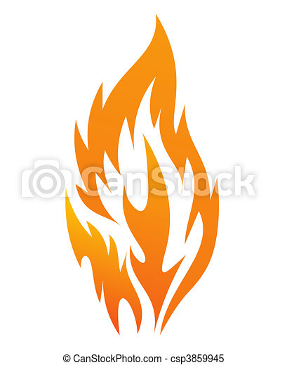 fire icon  - csp3859945