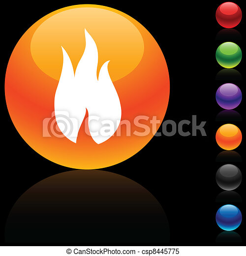 Fire icon. - csp8445775