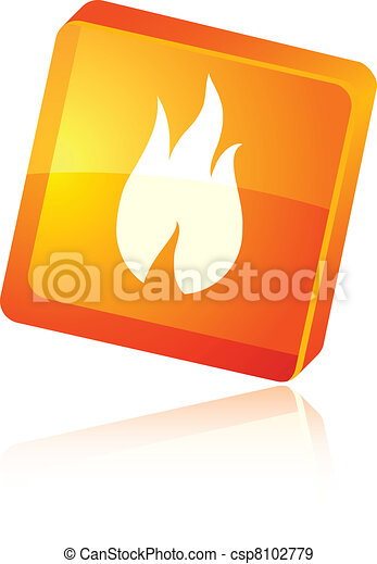 Fire icon. - csp8102779