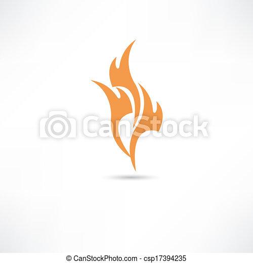 fire icon - csp17394235