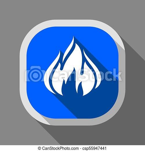 Fire icon, square button - csp55947441
