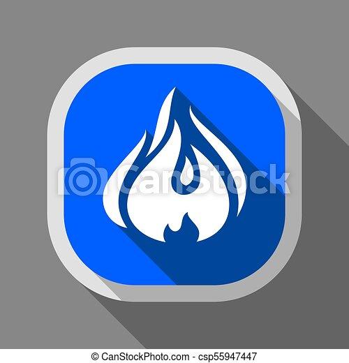 Fire icon, square button - csp55947447