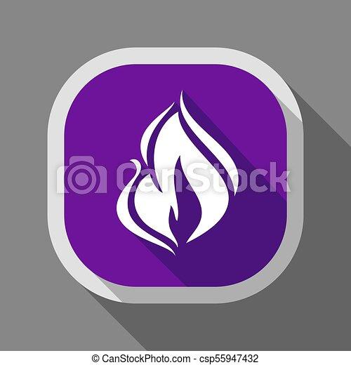 Fire icon, square button - csp55947432