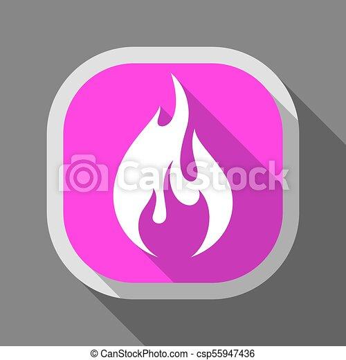 Fire icon, square button - csp55947436