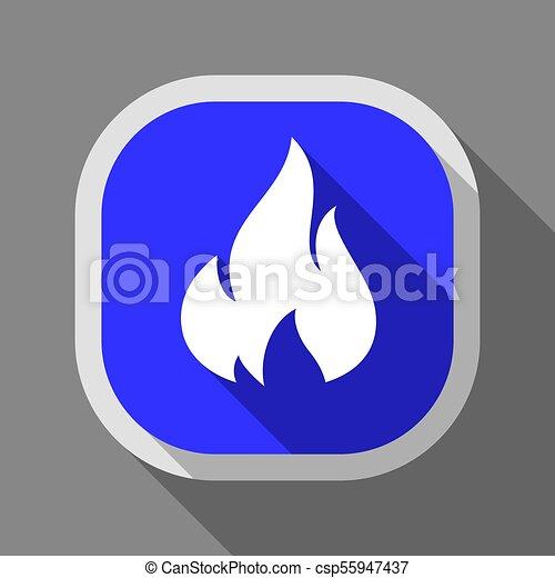 Fire icon, square button - csp55947437