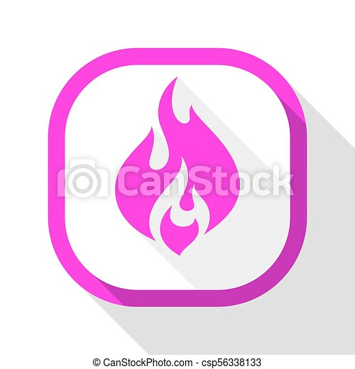 Fire icon, square button - csp56338133