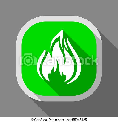 Fire icon, square button - csp55947425