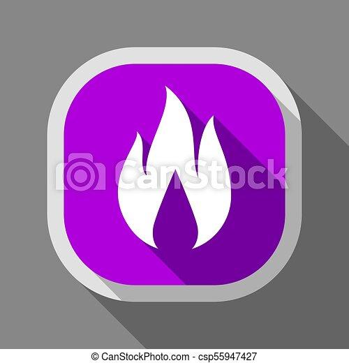Fire icon, square button - csp55947427