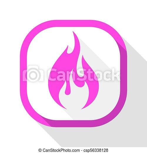 Fire icon, square button - csp56338128