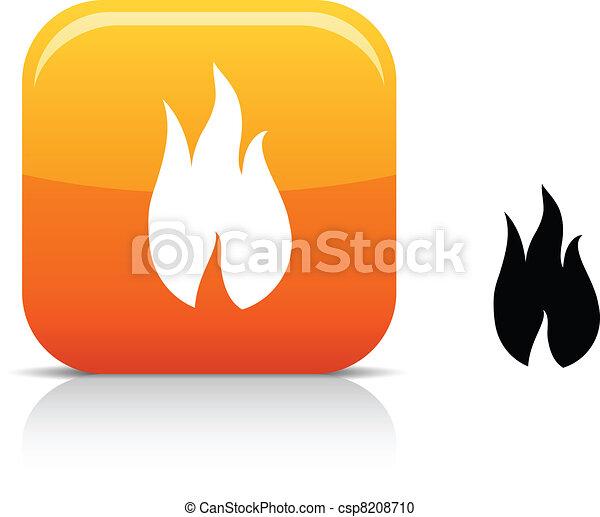 Fire icon. - csp8208710