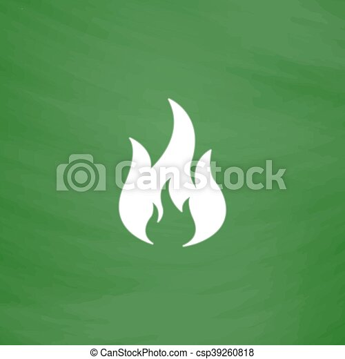 fire icon vector - csp39260818