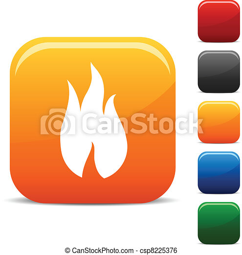 Fire icons. - csp8225376