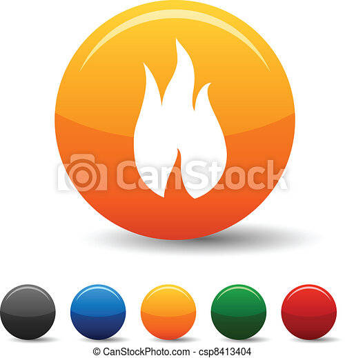 Fire icons. - csp8413404