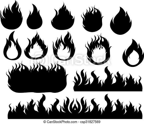 Fire icons set - csp31827569