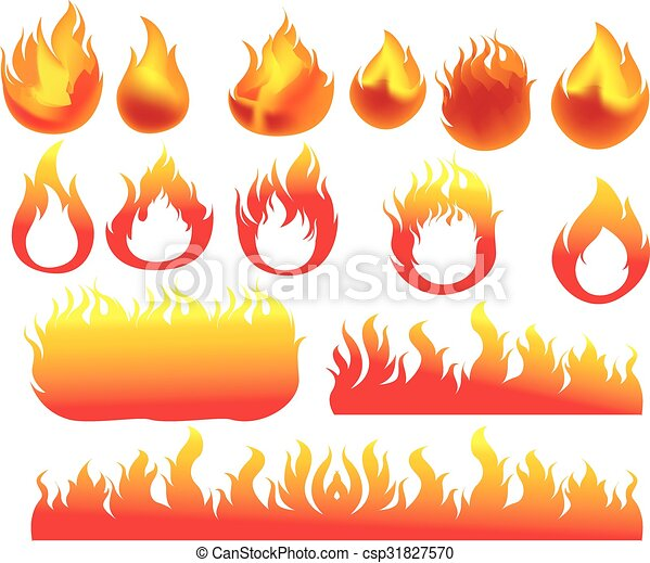 Fire icons set - csp31827570