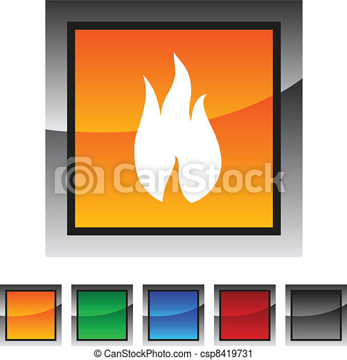 Fire icons. - csp8419731