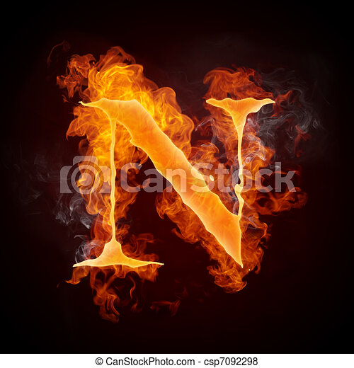 Fire letters a z fire letters n isolated on black background fire letters a z csp7092298 thecheapjerseys Images