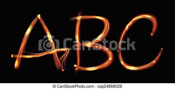 Fire letters abc letters abc drawn in fire ovet black style fire letters abc csp24869029 altavistaventures Images