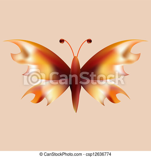 fire mesh butterfly with open wings - csp12636774