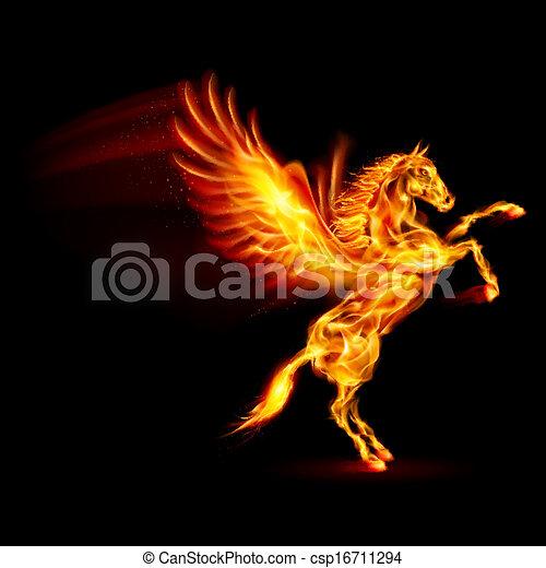 Fire Pegasus. - csp16711294