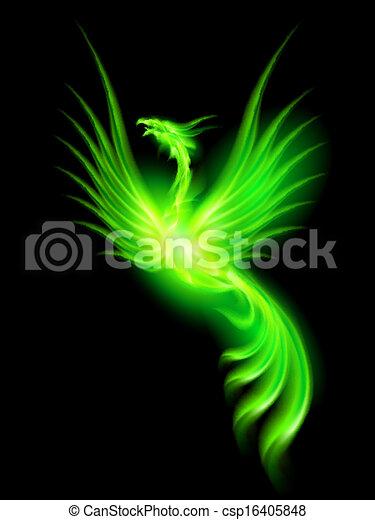 Fire Phoenix. - csp16405848
