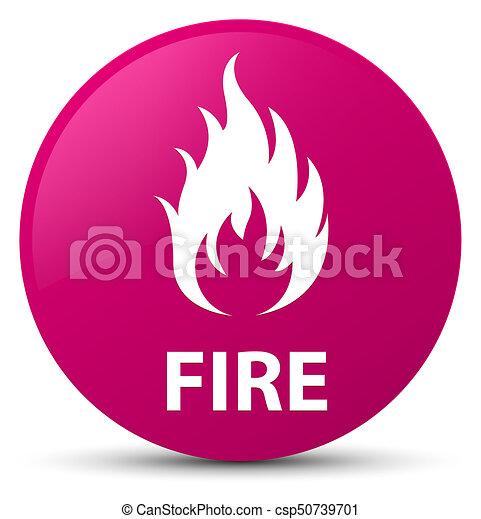 Fire pink round button - csp50739701