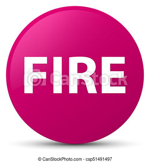 Fire pink round button - csp51491497