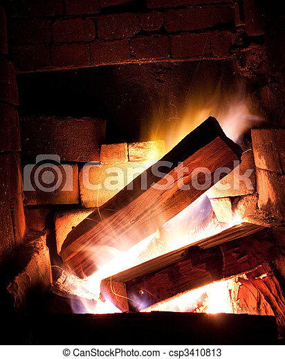 Fire place - csp3410813
