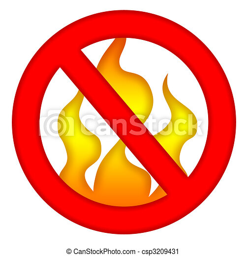 fire prevention sign isolated over white background