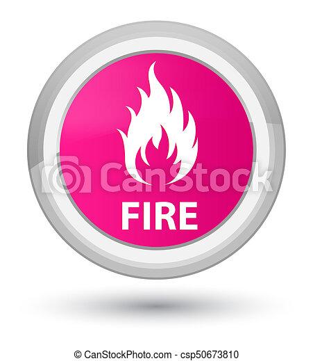 Fire prime pink round button - csp50673810