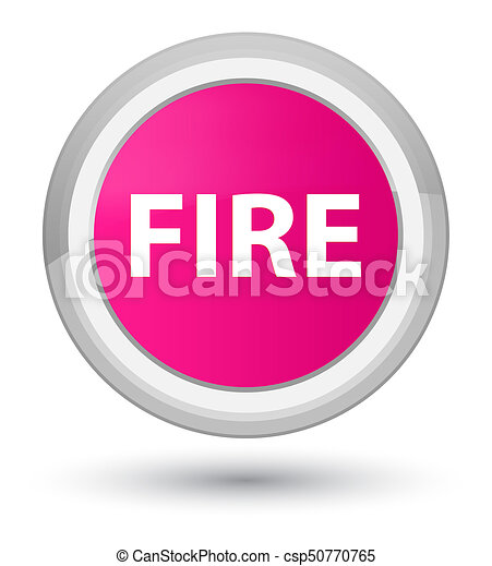 Fire prime pink round button - csp50770765