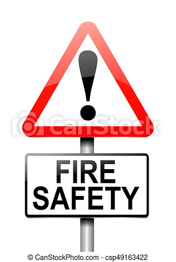 3d illustration depicting a warning sign with a fire safety clip rh canstockphoto com fire safety clipart free fire safety clip art pictures