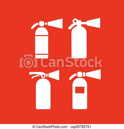 Fire safety extinguisher vector icon - csp50782761