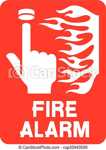 fire safety sign (fire alarm call p - csp35943509