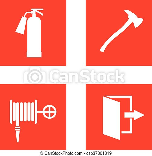 Fire safety sign vector illustration. - csp37301319