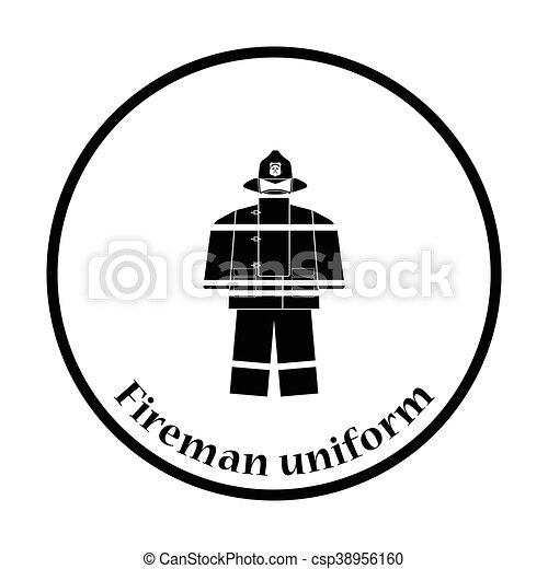 Fire service uniform icon - csp38956160