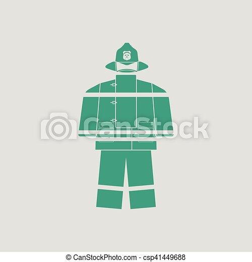 Fire service uniform icon - csp41449688