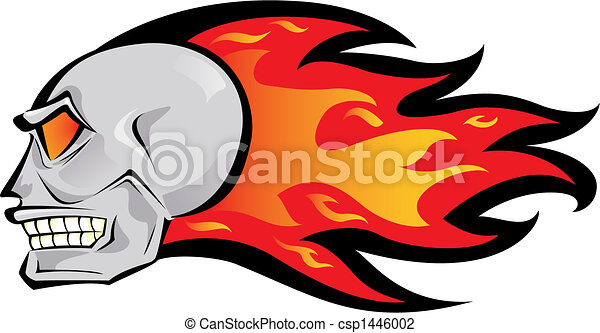 Fire Skull Logo Vector